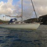 Sailboat set up for coastal cruising before conversion