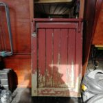 This door was salvaged from a ship wreck next the current project. It was in a bad state and required stripping,